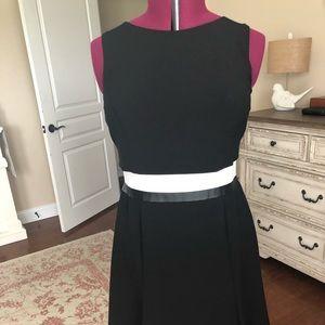 Lauren size 14 black dress with white trim